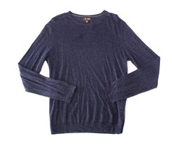 NWT Tasso Elba Men's Cotton Blend Lightweight Crewneck Sweater Navy Size... - $24.64