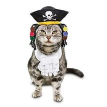 Bootique Pirate Cat Costume 2 Pc Hat W/Dreads Jabot Collar OSFM Small Do... - $13.99
