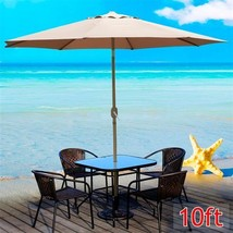 10ft Aluminum Outdoor Patio Umbrella Tan Sunsha... - $46.99