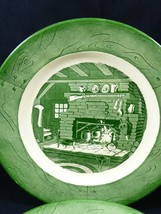 """Vintage by Royal China Colonial Homestead green set of 2 dinner plates 10""""  - $24.75"""