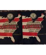 United States Commemorative Statehood Quarters Collectors Album Vol 1 & ... - $14.45