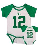 Aaron Rodgers Jersey Onesie Short Sleeve Bodysuit Green - $17.00