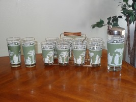 Vintage Wedgwood Jasperware Jeanette Green Greek Hellinic Caddy Cocktail... - $75.00