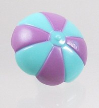 1995 Vintage Polly Pocket Doll Pop-up Clubhouse Turquoise/Magenta Umbrella - $6.00