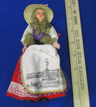 """Vintage Eros 6"""" Souvenir Folk Doll From Florence Italy Plastic Movable Arms - $14.10"""