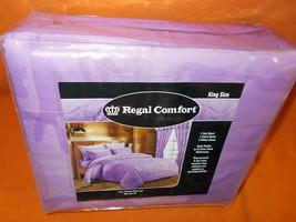 Regal Comfort  King Size 6 Pcs. Printed Sheet Set #DPS192-4K  UPC:799928... - $34.65