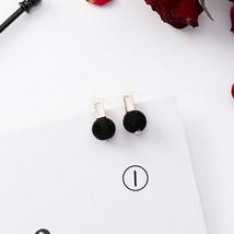 2019 New Korean Girl Earrings Black Geometry Tassel Drop Earrings for Wo... - $13.14