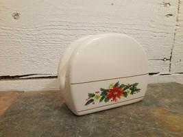 Royal Norfolk Ceramic Poinsettia Christmas Holiday Napkin Holder - $7.91