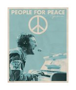 JOHN LENNON POSTER 20x16 INCHES PEOPLE FOR PEACE SIGN THE BEATLES  - $15.99