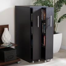 Modern Wooden Bookcase Pulled-out Door Cabinet Bookshelf 8 Shelves Stora... - $192.06