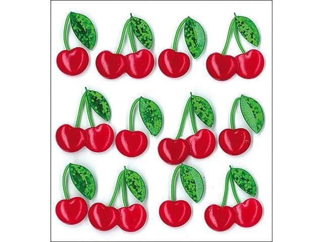 Jolee's Boutique 12 Pcs Dimensional Sweet Cherries Cabochon Stickers #50-20696