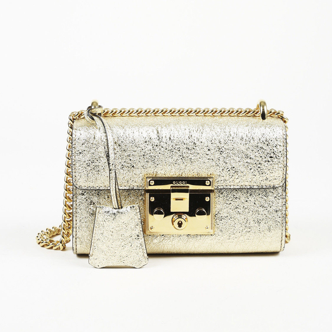 c2372aa3b6d9 Gucci Leather Small Padlock Flap Bag - $1,384.60