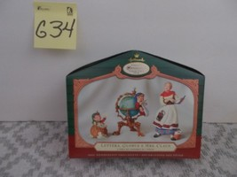 Hallmark Collector's Club Lettera, Globus, and Mrs Claus, Christma Ornam... - $14.99