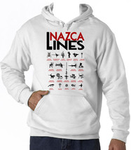 Nazca Lines - New Cotton White Hoodie - $37.67
