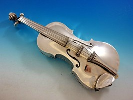 "Ole Petersen Sterling Silver Violin with Secret Compartment 1969 11 3/8""... - $7,995.00"