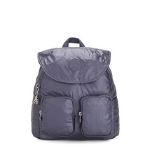 Kipling Fiona Medium Metallic Backpack Enchanted Purple Metallic
