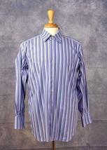 Men's ROBERT TALBOTT Chelsea Men's Striped Button Down Flip Cuff Shirt S... - €12,29 EUR