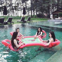 Water Swimming Pool Floating Playing Desk Inflatable Table Chairs Bed Wa... - $112.51