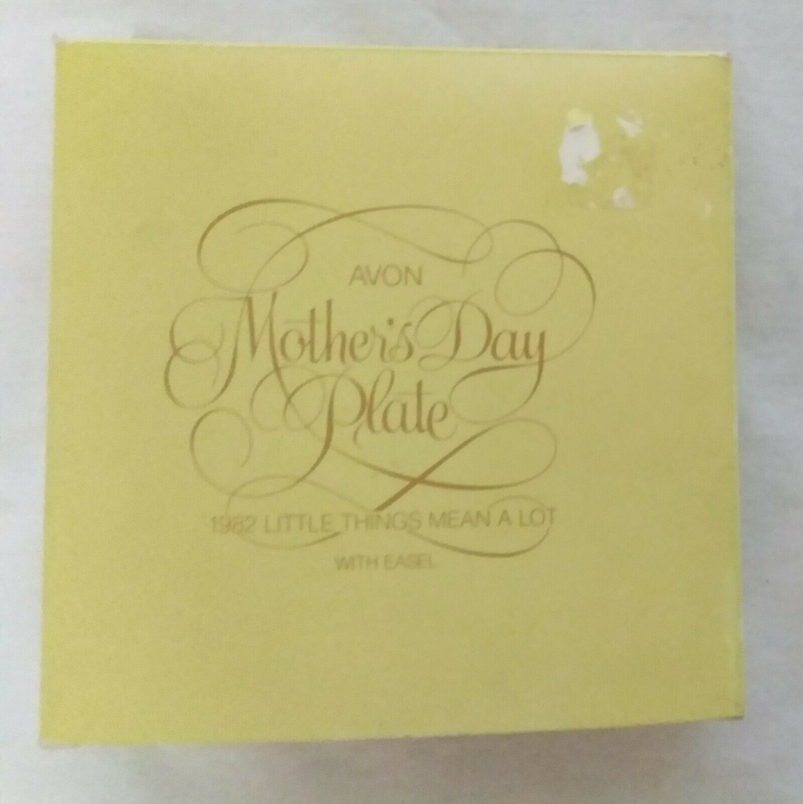 Mother's Day Plate 1982 Little Things Mean a Lot in Box by Avon Vintage