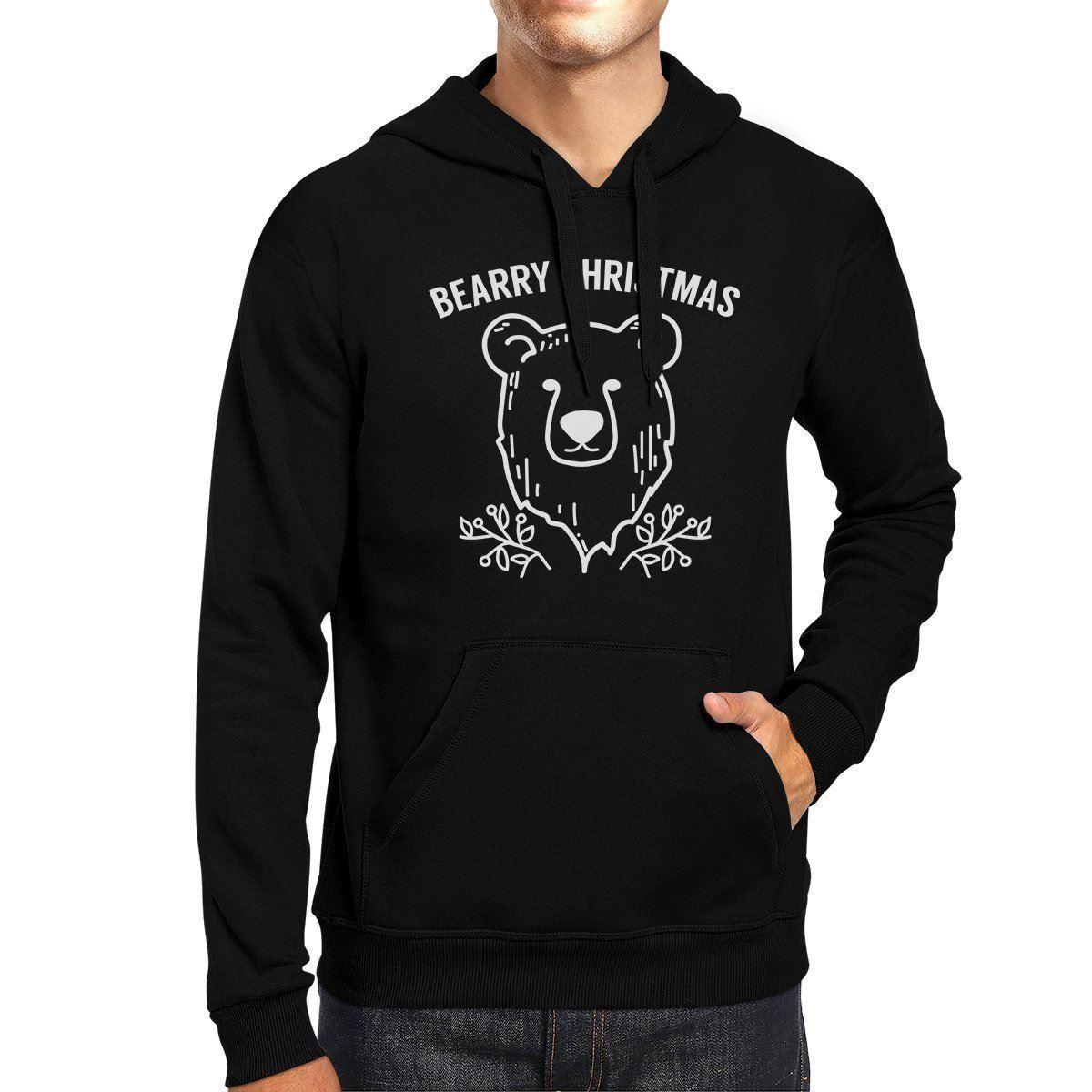 Bearry Christmas Bear Black Hoodie