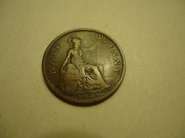 1925 BRITISH/UK Half Penny Combined Shipping - $2.72