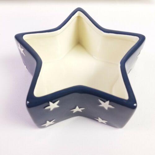 Americana Chip Dip Set USA Flag Serving Tray Stars Stripes 14 X 8.5 Homco NEW image 5