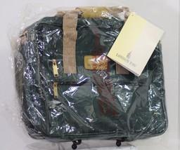 NOS VINTAGE NYLON LONDON FOG OAKLAND DUFFEL CARRY-ON TRAVEL BAG GREEN KHAKI - $58.04