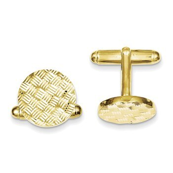 Primary image for Lex & Lu Sterling Silver & Vermeil Round Woven Design D/C Cuff Links