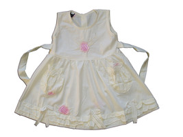 New Baby Girls Pale Yellow Floral Cotton Party Dress From 3-6 to 12-18 Months - $11.34