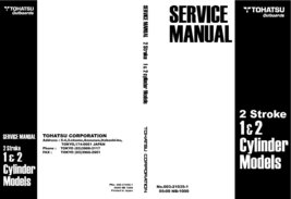 TOHATSU 1-2 Cylinder 2-Stroke Outboard Workshop Repair Service Manual PDF - $13.99