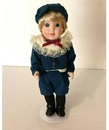 Vintage Porcelain Doll Marianne Haben London Boy Doll Knickers Blue Outfit - $24.99