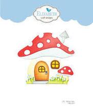Mushroom House Folding Card Die Set. Elizabeth Craft Designs