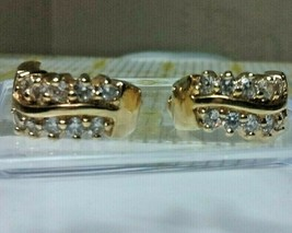 "Vintage Jewelry: 3/4"" Gold Tone Rhinestone Pierced Earrings 02-18-2019 - $9.99"