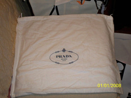 "NEW PRADA Authentic dust bag sleeper White Flannel for handbags shoes  20x16 "" - $23.75"