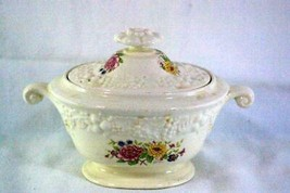 Homer Laughlin Floral TH6 M47N5 Covered Sugar Bowl - $5.66