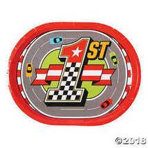 1st Birthday Race Car Dinner Plates - $3.86