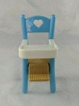 Fisher Price Dream Dollhouse Blue Highchair Nursery 1993 - $6.95