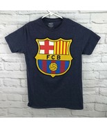 FCB Barcelona soccer football men's t-shirt blue size medium - $18.00