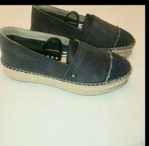 **Sam Edelman  Leather Espadrille Flats, Women's Size 7M, Blue Pre-owned  - $15.43