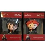 "2018 Hallmark Harry Potter & Ron Weasley Christmas Tree Ornaments NEW 3""... - $26.72"