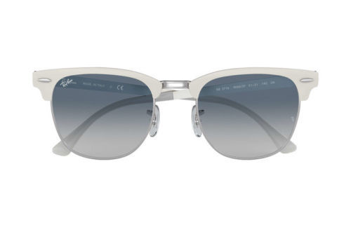 365b266b7df ... Ray Ban Sunglasses Clubmaster RB3716 9088 3F White Silver Frames Blue  Lens 51MM ...