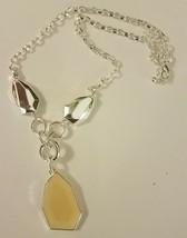 Avon 2010 Silvertone Faceted Drop Necklace NIB - $11.27