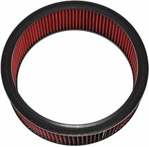 """HIGH FLOW WASHABLE & REUSABLE ROUND AIR FILTER ELEMENT REPLACEMENT 14"""" X 4"""" RED image 4"""