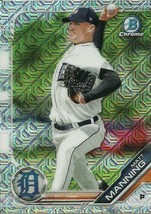 2019 BOWMAN CHROME MEGA BOX MOJO REFRACTOR BCP85 MATT MANNING RC TIGERS - $1.99