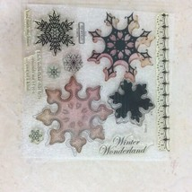 Snowflakes D1480 Stamp Set CTMH Close To My Heart Winter Wonderland Snow... - $6.81