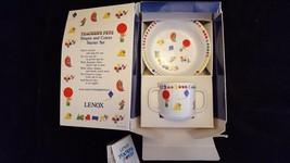 Vintage New Lenox Children's Bowl 2 Handle Cup Starter China Set Teacher... - $27.99