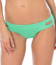 NEW BECCA Color Code Seaglass Tab Cutout Hipster Bikini Swim Bottom L Large - $17.81