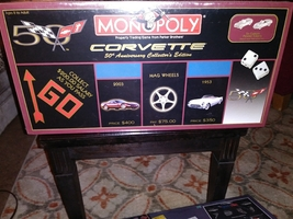 corvette 50th anniversary collectors edition manopoly brand new game - $27.99