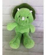 Animal Adventure Green Triceratops Dinosaur Dino Plush Stuffed Animal To... - $49.49