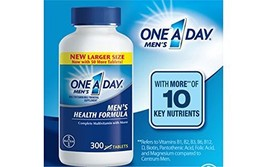 One A Day Men's Health Formula, 1Pack 300 Tablets Each